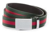 1-25-quot-anson-golf-buckle-in-silver 1-25-quot-green-red-stripe-cloth-strap