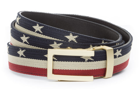 1-25-quot-traditional-buckle-in-matte-gold 1-25-quot-stars-and-stripes-canvas-strap