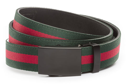 1-25-quot-classic-buckle-in-black 1-25-quot-green-red-stripe-cloth-strap