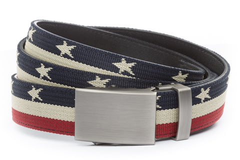 1-25-quot-classic-buckle-in-gunmetal 1-25-quot-stars-and-stripes-canvas-strap