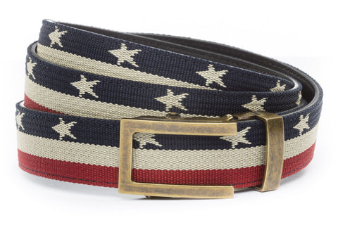 1-25-quot-traditional-buckle-in-antiqued-gold 1-25-quot-stars-and-stripes-canvas-strap