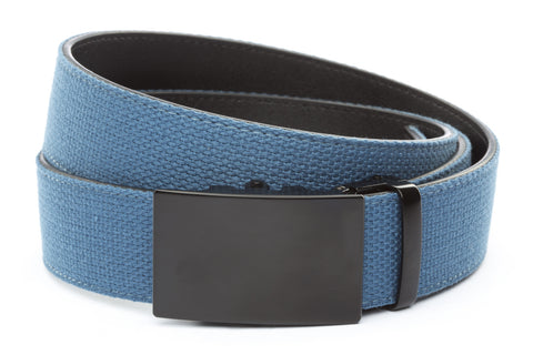 1-5-quot-classic-buckle-in-black 1-5-quot-marine-blue-canvas-strap
