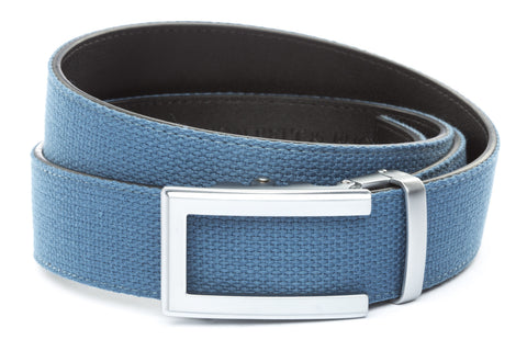 1-5-quot-traditional-buckle-in-silver 1-5-quot-marine-blue-canvas-strap