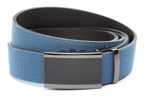 1-5-quot-onyx-buckle-in-smoked-gunmetal 1-5-quot-marine-blue-canvas-strap