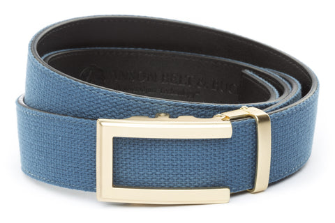 1-5-quot-traditional-buckle-in-gold 1-5-quot-marine-blue-canvas-strap