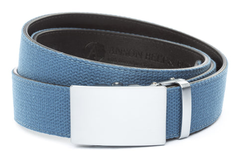 1-5-quot-classic-buckle-in-silver 1-5-quot-marine-blue-canvas-strap