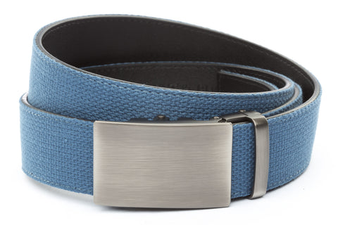 1-5-quot-classic-buckle-in-gunmetal 1-5-quot-marine-blue-canvas-strap
