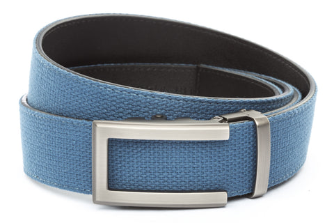 1-5-quot-traditional-buckle-in-gunmetal 1-5-quot-marine-blue-canvas-strap