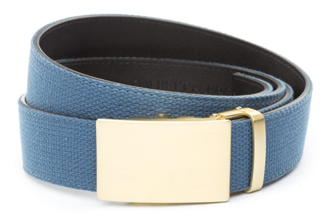 1-5-quot-classic-buckle-in-matte-gold 1-5-quot-marine-blue-canvas-strap