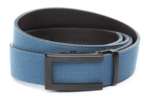 1-5-quot-traditional-buckle-in-black 1-5-quot-marine-blue-canvas-strap