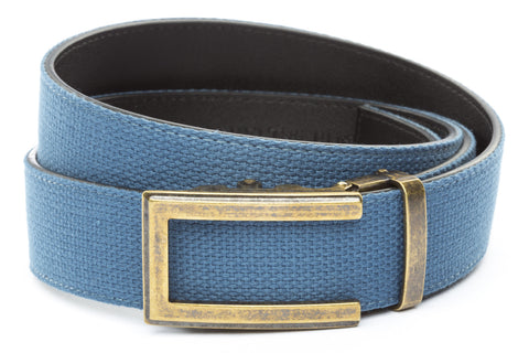 1-5-quot-traditional-buckle-in-antiqued-gold 1-5-quot-marine-blue-canvas-strap