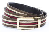 1-25-quot-traditional-buckle-in-gold 1-25-quot-green-red-stripe-w-trim-cloth-strap
