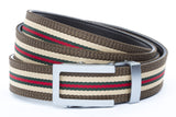 1-25-quot-traditional-buckle-in-silver 1-25-quot-green-red-stripe-w-trim-cloth-strap