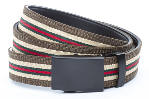 1-25-quot-classic-buckle-in-black 1-25-quot-green-red-stripe-w-trim-cloth-strap