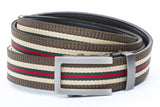 1-25-quot-traditional-buckle-in-gunmetal 1-25-quot-green-red-stripe-w-trim-cloth-strap