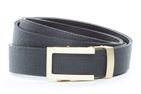 1-25-quot-traditional-buckle-in-matte-gold 1-25-quot-graphite-canvas-strap