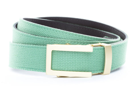 1-25-quot-traditional-buckle-in-matte-gold 1-25-quot-lime-canvas-strap