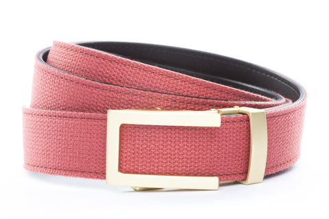 1-25-quot-traditional-buckle-in-matte-gold 1-25-quot-salmon-canvas-strap