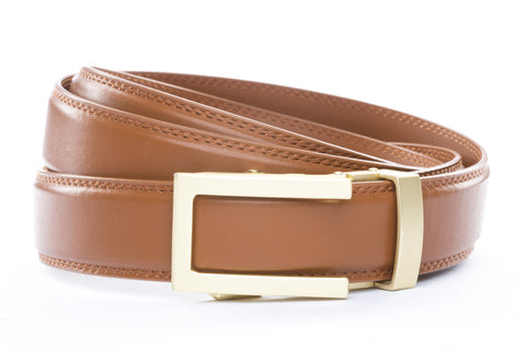 1-25-quot-traditional-buckle-in-matte-gold 1-25-quot-saddle-tan-leather-strap
