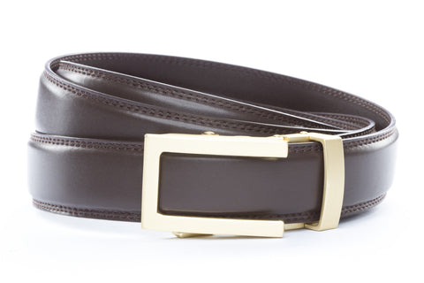 1-25-quot-traditional-buckle-in-matte-gold 1-25-quot-dark-brown-leather-strap