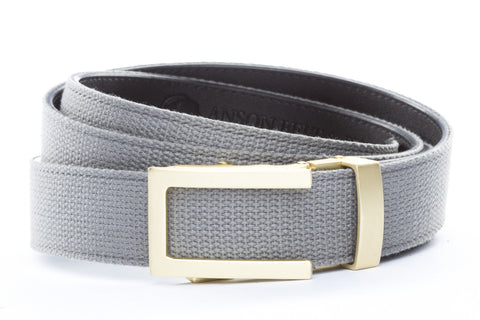 1-25-quot-traditional-buckle-in-matte-gold 1-25-quot-grey-canvas-strap