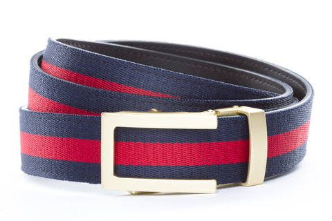 1-25-quot-traditional-buckle-in-matte-gold 1-25-quot-navy-red-stripe-cloth-strap