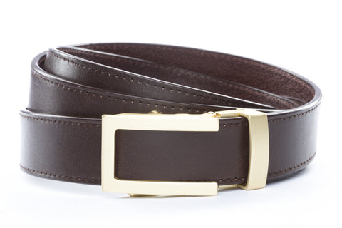 1-25-quot-traditional-buckle-in-matte-gold 1-25-quot-espresso-vegetable-tanned-leather-strap
