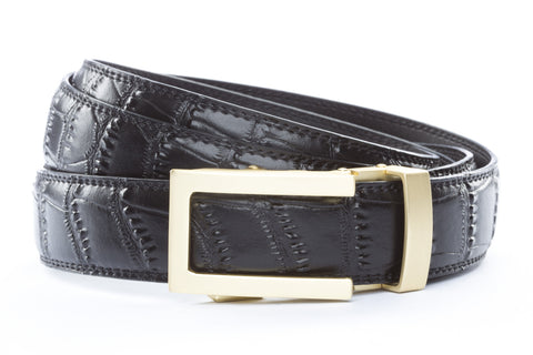 1-25-quot-traditional-buckle-in-matte-gold 1-25-quot-black-faux-croc-strap