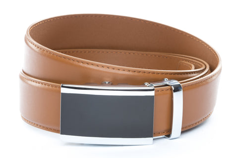 1-5-quot-onyx-buckle-in-silver 1-5-quot-saddle-tan-leather-strap