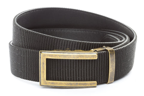 1-5-quot-traditional-buckle-in-antiqued-gold 1-5-quot-black-nylon-strap