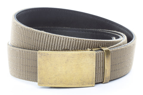 1-5-quot-classic-buckle-in-antiqued-gold 1-5-quot-desert-tan-nylon-strap