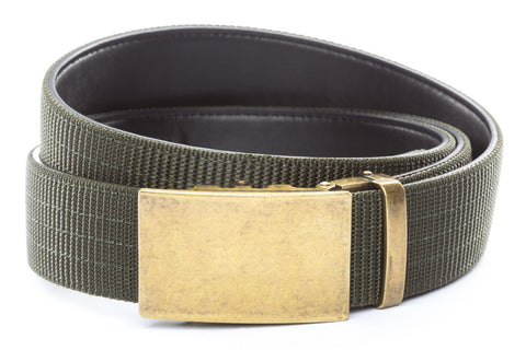 1-5-quot-classic-buckle-in-antiqued-gold 1-5-quot-olive-drab-nylon-strap