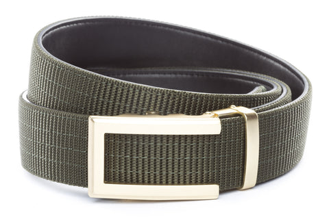 1-5-quot-traditional-buckle-in-gold 1-5-quot-olive-drab-nylon-strap