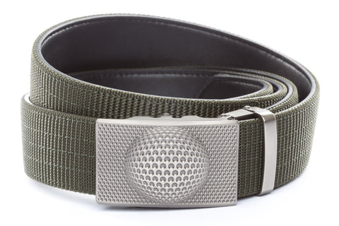 1-5-quot-anson-golf-buckle-in-gunmetal 1-5-quot-olive-drab-nylon-strap
