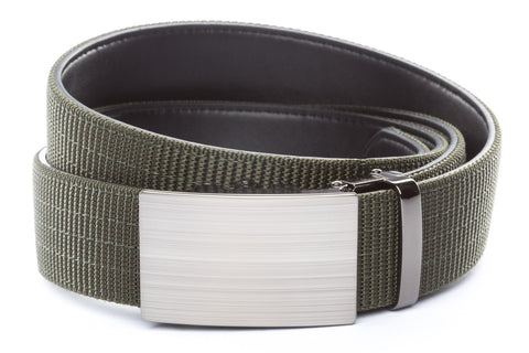 1-5-quot-classic-buckle-in-formal-gunmetal 1-5-quot-olive-drab-nylon-strap