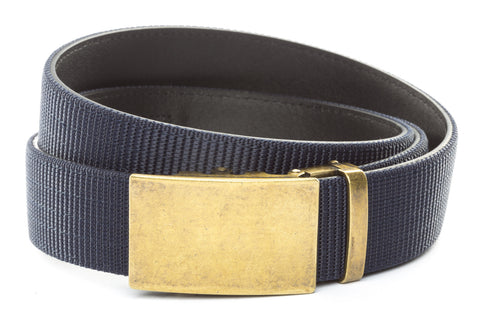 1-5-quot-classic-buckle-in-antiqued-gold 1-5-quot-navy-nylon-strap