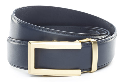 1-5-quot-traditional-buckle-in-gold 1-5-quot-navy-leather-strap