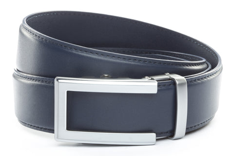 1-5-quot-traditional-buckle-in-silver 1-5-quot-navy-leather-strap