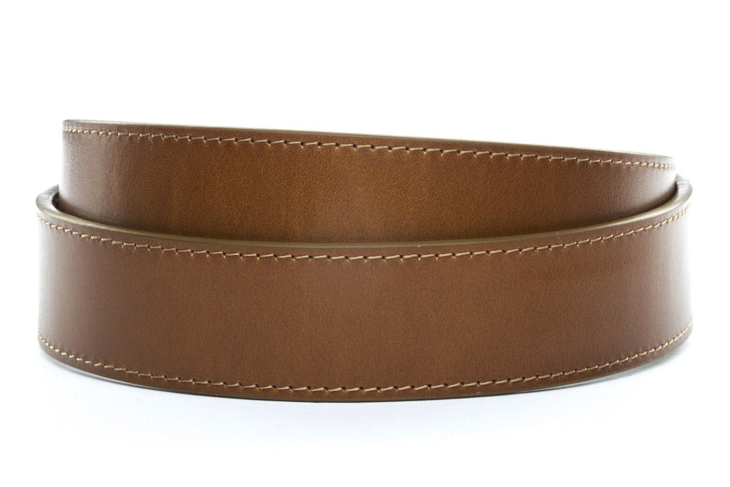 "1.5"" Light Brown Vegetable Tanned Leather Strap"