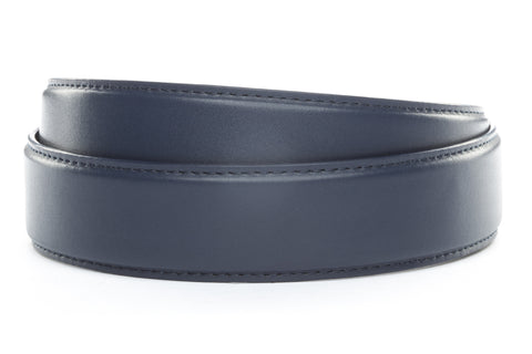 "1.5"" Navy Leather Strap"