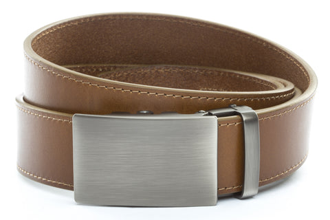 1-5-quot-classic-buckle-in-gunmetal 1-5-quot-light-brown-vegetable-tanned-leather-strap