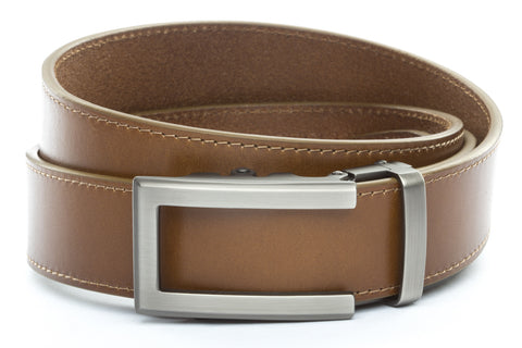 1-5-quot-traditional-buckle-in-gunmetal 1-5-quot-light-brown-vegetable-tanned-leather-strap