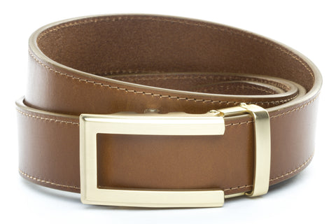 1-5-quot-traditional-buckle-in-gold 1-5-quot-light-brown-vegetable-tanned-leather-strap