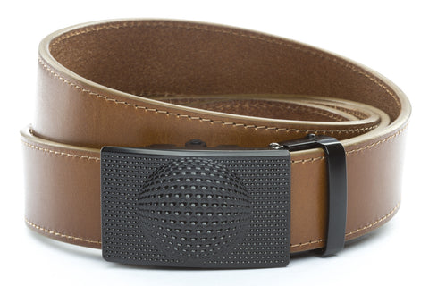 1-5-quot-anson-golf-buckle-in-black 1-5-quot-light-brown-vegetable-tanned-leather-strap