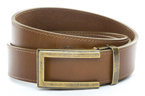 1-5-quot-traditional-buckle-in-antiqued-gold 1-5-quot-light-brown-vegetable-tanned-leather-strap