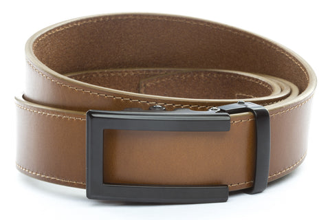 1-5-quot-traditional-buckle-in-black 1-5-quot-light-brown-vegetable-tanned-leather-strap