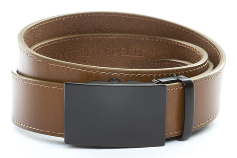 1-5-quot-classic-buckle-in-black 1-5-quot-light-brown-vegetable-tanned-leather-strap