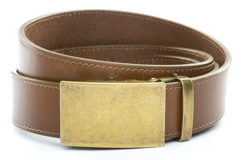 1-5-quot-classic-buckle-in-antiqued-gold 1-5-quot-light-brown-vegetable-tanned-leather-strap