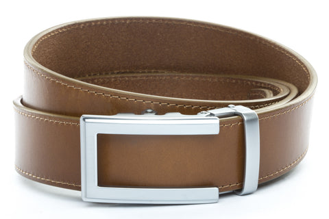 1-5-quot-traditional-buckle-in-silver 1-5-quot-light-brown-vegetable-tanned-leather-strap