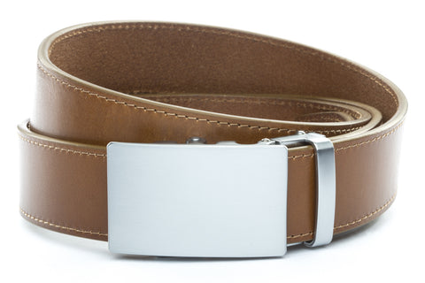 1-5-quot-classic-buckle-in-silver 1-5-quot-light-brown-vegetable-tanned-leather-strap